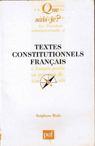 9782130518457: Textes constitutionnels français