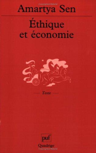 Ethique et économie (2130520464) by Amartya Sen; Quadrige