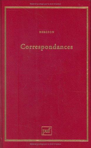 Correspondances: Bergson, Henri
