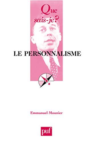 9782130521068: Le Personnalisme