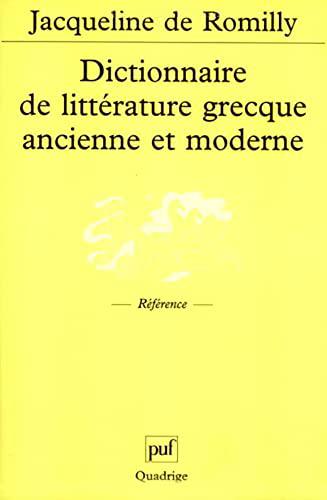 9782130521341: Dictionnaire de littérature grecque ancienne et moderne