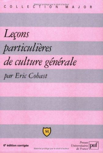 9782130524540: Leçons particulières de culture générale