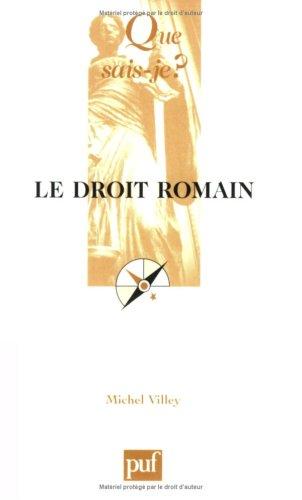 Le Droit Romain. Son actualité.: VILLEY, M.,