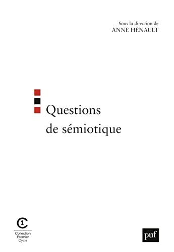 Questions de sémiotique: H�nault, Anne