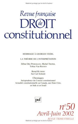 9782130527909: Revue fran�aise de droit constitutionnel, num�ro 50