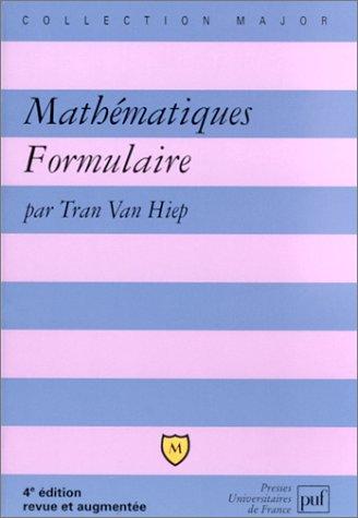 9782130528012: Mathématiques Formulaire (Major)