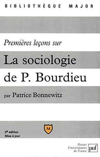 9782130529088: Premieres lecons sur la sociologie de pierre bourdieu