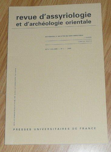 9782130530473: Revue d'Assyriologie et d'Archéologie Orientale N 2 2000