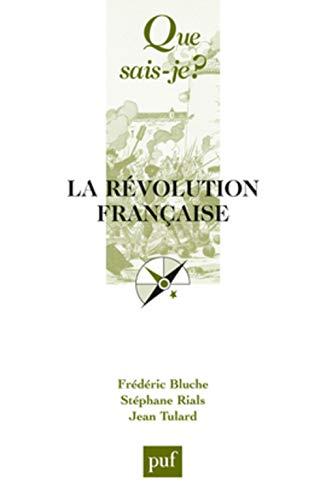 La Révolution française: Frédéric Bluche, Stéphane