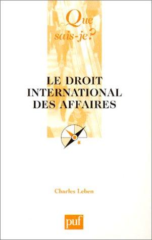 9782130534334: Le Droit international des affaires