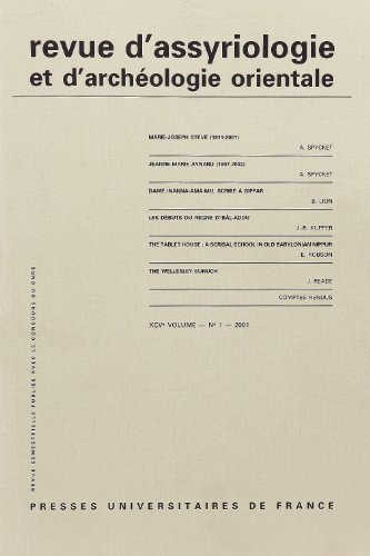 Revue d'Assyriologie et d'Archéologie Orientale V95 N 1 -2001 (French ...