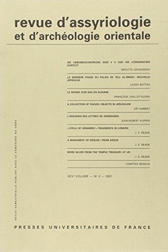 Revue d'Assyriologie et d'Archéologie Orientale V95 N2 2001 (French Edition)...