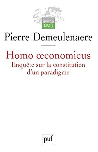 Homo oeconomicus: Demeulenaere, Pierre