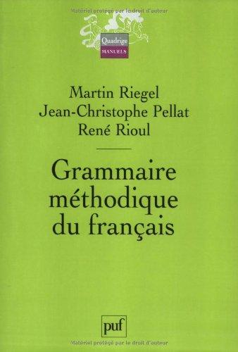 9782130539599: GRAMMAIRE methodique du francais