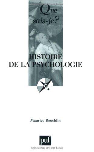 Histoire de la psychologie: Maurice Reuchlin, Que
