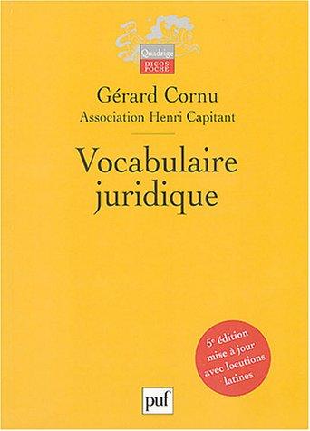 9782130543992: Vocabulaire juridique