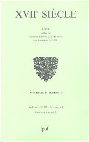 XVIIème siècle, numéro 223 -2004: Collectif