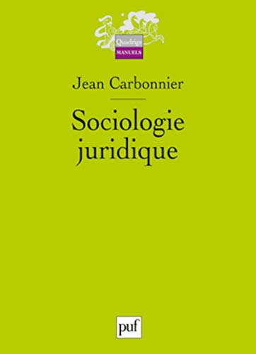9782130545989: Sociologie juridique (French Edition)