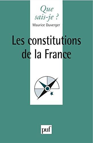 9782130546085: Les constitutions de la France
