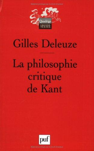 9782130546962: LA Philosophie Critique De Kant