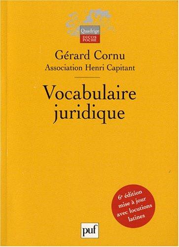 9782130547426: Vocabulaire juridique