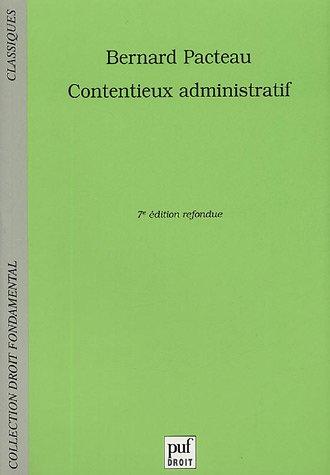 contentieux administratif: Pacteau, Bernard