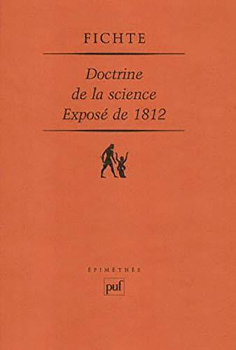 Doctrine de la science: Fichte, Johann Gottieb