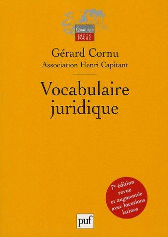 9782130550976: Vocabulaire juridique : Association Henri Capitant