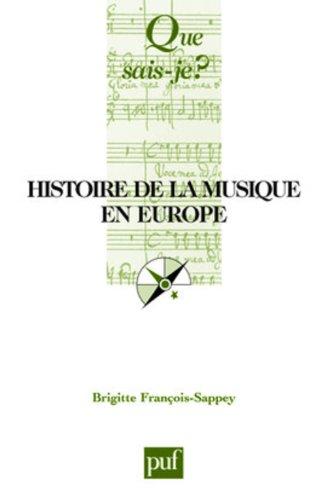 9782130552536: Histoire de la musique en Europe