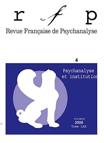 psychanalyse et institutions: Collectif