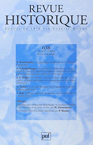 Revue Historique N 638 2006: Yves Krumenacker; Eric