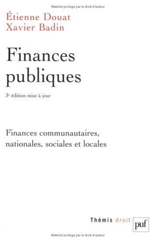 Finances publiques [nouvelle �dition]: Douat, Etienne