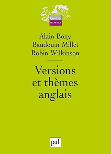 Versions et thèmes anglais: Bony, Alain, Millet,