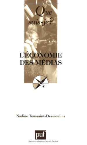9782130558293: L'économie des médias