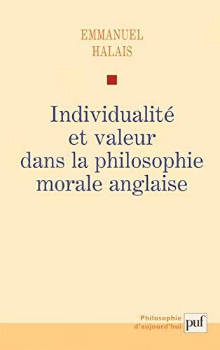 9782130559139: Individualité et valeur dans la philosophie morale anglaise