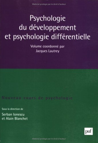 9782130559818: Psychologie du développement et psychologie différentielle