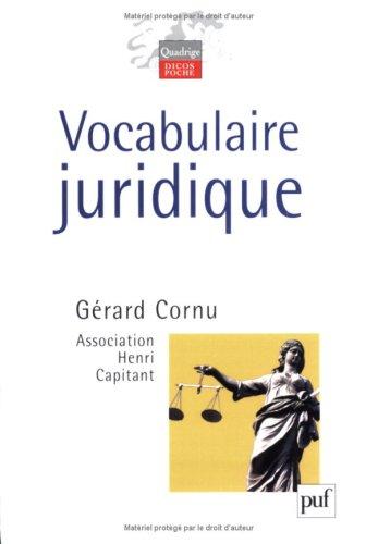9782130559863: Vocabulaire Juridique (French Edition)