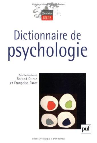 9782130560258: Dictionnaire de Psychologie (Quadrige Dicos Poche)