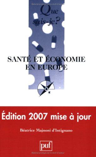 9782130560401: Santé et économie en Europe