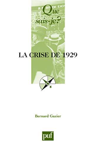 9782130560890: La crise de 1929