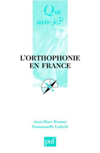 9782130564911: L'orthophonie en France