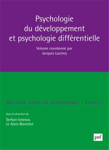 9782130565840: Psychologie du développement et psychologie différentielle