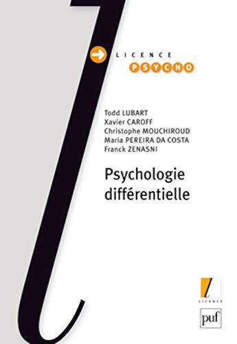 Psychologie différentielle: Lubart, Todd