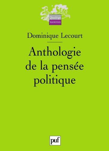 9782130569633: Anthologie de la pens�e politique