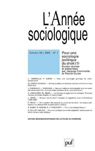 L'Annee sociologique, N° 1-2009 (French Edition): Collectif