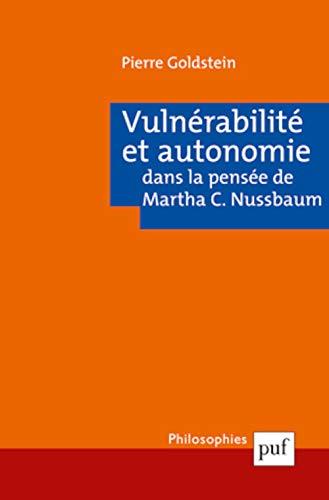 Vulnérabilité et autonomie: Goldstein, Pierre
