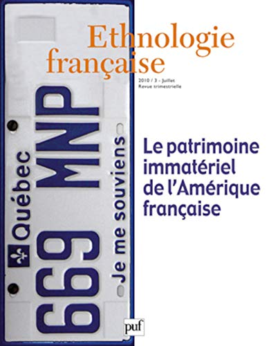 Ethnologie française, N° 3 (French Edition): Collectif