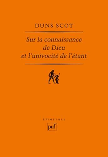9782130587996: sur la connaissance de dieu et l'univocité de l'étant (2e edition)