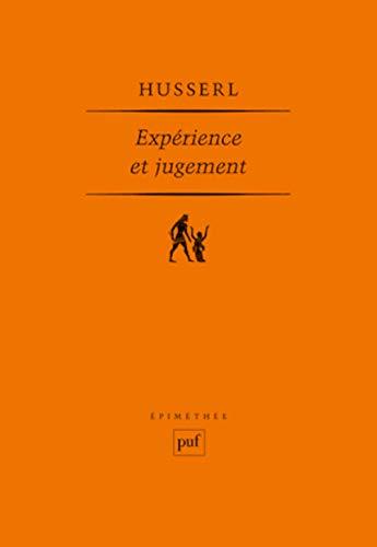 Expérience et jugement: Husserl, Edmund