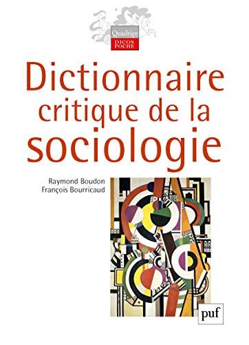 9782130588474: Dictionnaire critique de la sociologie